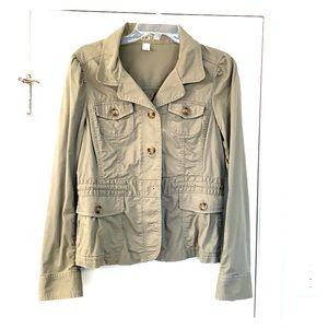 Loft army green cotton jacket